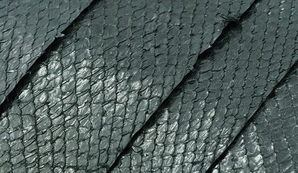 cuir saumon finition crystal