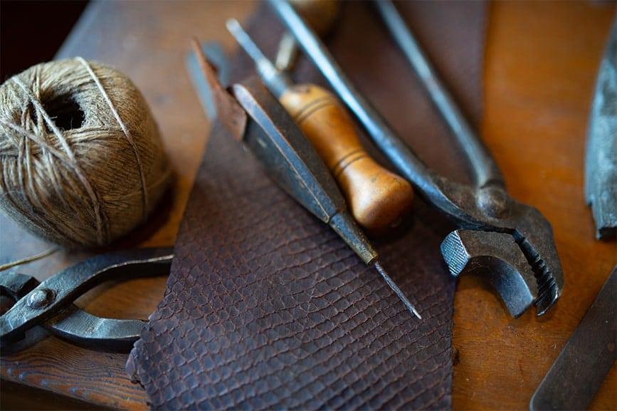 travail du cuir de poisson